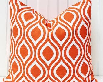 Orange Pillow Cover, Throw Pillow, Decorative Pillows, Accent Pillow, Cushion Cover, Bright Tangerine Orange Pillows