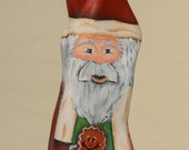 Cypress Knee Santa with Gingerbread Man Gingerbread House Cypress Wood Santa Figurine