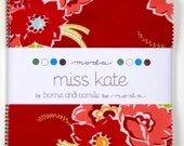 Miss Kate Fabric Collection by Bonnie and Camille for Moda Fabrics - 1 Charm Pack