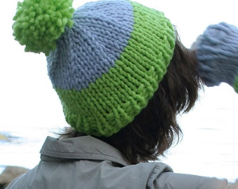 Horizon Toque and Arm Warmers knitting pattern, instant download