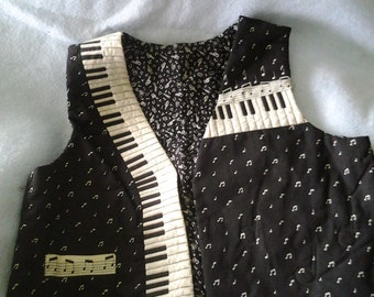 Musicians Quilted Vest