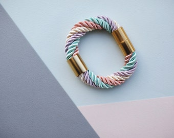 Pastel Candy Nautical Rope bracelet