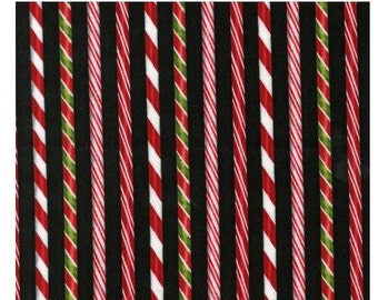 Holly Jolly Christmas Candy Cane Stripes from Robert Kaufman