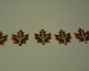 Layered fall leaf die-cut