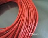Cotton Wax Cord 2 Yards 1.5mm - Red Round Round Cotton Wax Cords