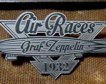 Custom GRAF ZEPPELIN Air Races BADGE Prop Tribute Airship Blimp