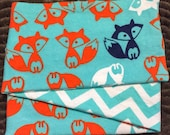 Foxy Chevron, *** STAGE 2*** Children's G Tube Belly Band Wrap, (waist size 20-22 inches)