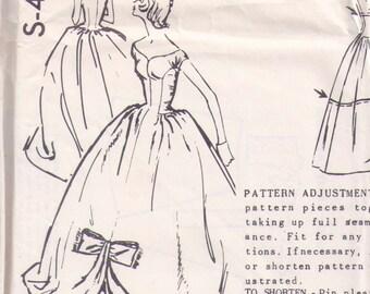 Very Rare 1950s SPADEA NORMAN HARTNELL S-401 evening gown ball gown prom dress formal dress wedding gown 50s bust 34