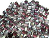 50 Glass Gems - Light & Dark Transparent Grape PURPLE - Mosaic/Floral/Candle Displays/Vase Fillers - Half Marbles/Cabochons/Glass Nuggets