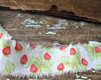 Country Strawberry Fields Handmade Ribbon Trim