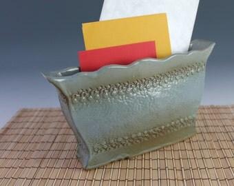 Letter carrier - Blue vase - organize your mail - Christmas Card holder