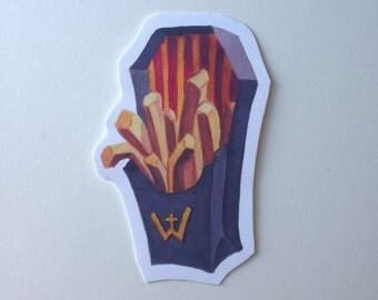 Coffin fry sticker