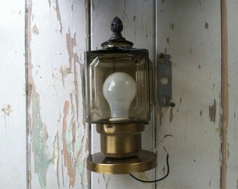 SALE Retro Smoky Glass Outdoor Lantern - Vintage Mod Lighting for the Outdoors + Home Decor, Mid Century Lighting Supply Home Improvement
