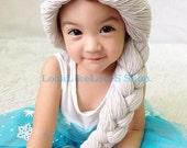 Frozen Inspired Elsa Crochet Hat, Toddler frozen hat, Elsa hat, Frozen hat ,2-5 years