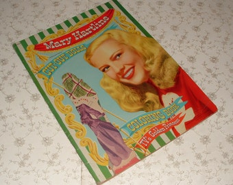 UNCUT 1952 Mary Hartline Paper Dolls & Coloring Book