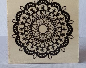Doily Circle (AO2) Wooden Mounted Rubber Stamping Block DIY cards, scrapbooking, tags, Invitations, and Greeting Cards