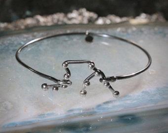 AQUARIUS Sterling Silver bracelet - Friend Bracelet, Personalized Jewelry, stars, men, boyfriend, Constellation Serie