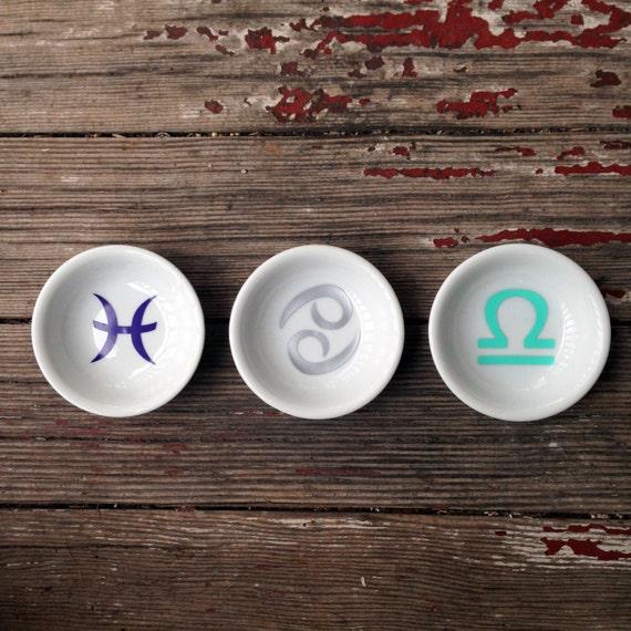 Ring Dish | Zodiac | Engagement Gift | Jewelry Dish | Virgo | Libra