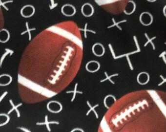 Football Anti Pill Fleece Fabric by the Yard