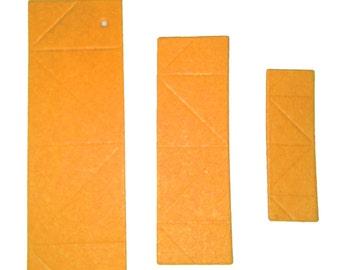 3D Origami  Paper Yellow orange