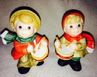 Homco little drummer boy figurines vintage
