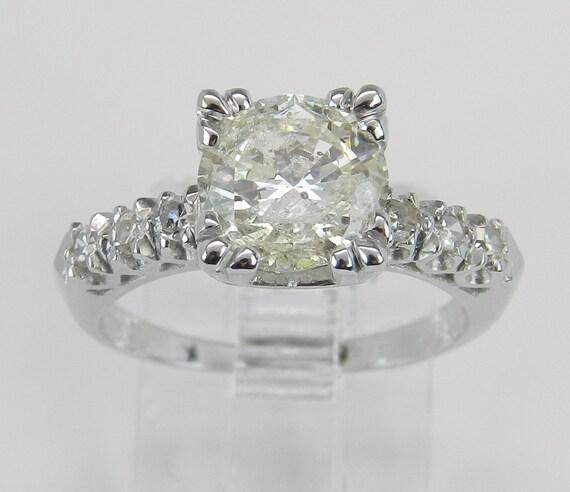 Platinum 1.62 ct Diamond Engagement Ring Antique Ring Art Deco Natural Size 5.25