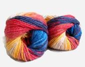 Alize multicolor yarn,  acrylic  yarn , 1 Skein,  Each skein: 100 gr,  Rainbow yarn