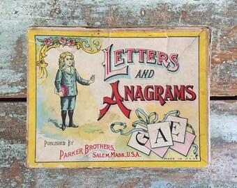 """Antique """"Anagram box""""."""