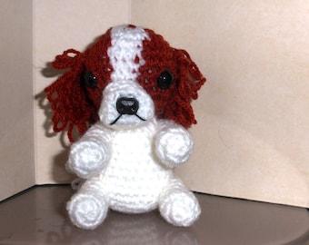 cavalier king charles spaniel crochet amigurumi toy