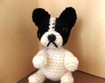 french bulldog crochet amigurumi toy dog