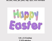 Happy Easter Saying Machine Embroidery Design