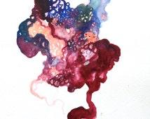 Abstract heart map art print - Heartmap  - 8x10