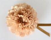 Mini with ribbon sparkling - gliter  or metallic  tissue paper pompoms  - weddin party decorations - napkin rings