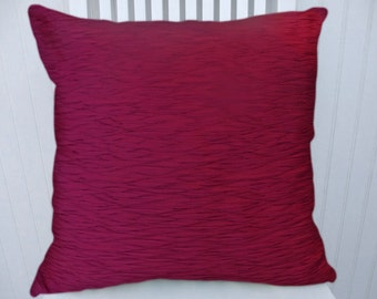 Fuchsia Decorative Pillow Cover--Textured Solid Throw Pillow Accent Pillow Cover--18x18 20x20 or 22x22