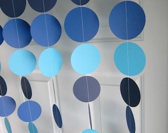 Paper Garland, Baby Boy Shower, 1st Birthday, Boy Birthday, Blue Decorations, Blue Baby Shower, Ocean Party, Bridal Shower