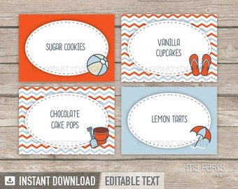 how to make food labels for party