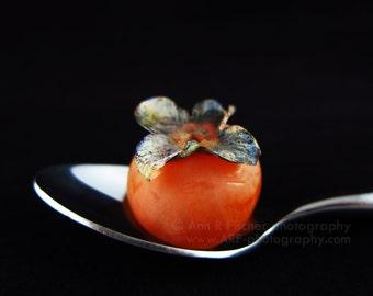 Persimmon Photo, Still Life Photography, Kitchen Art, Restaurant Decor, Food Photography, Fruit Art, Minimalist Art, Autumn Fruit