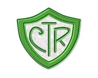 CTR Applique Machine Embroidery Design-INSTANT DOWNLOAD