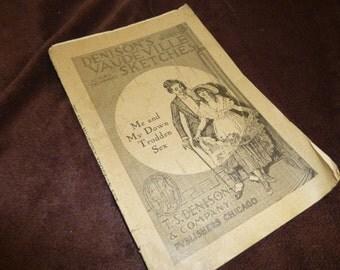Monologue Vintage Women's Rights Me and My Down Trodden Sex Denison's Vaudeville Sketches Rare 1904 Edition