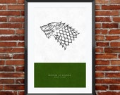 Game of Thrones - House Stark print 11X17""