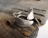 Silver Leaf - Sterling Silver Ring -  Made to order