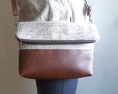 Crossbody bag, Everyday shoulder bag, Foldover purse
