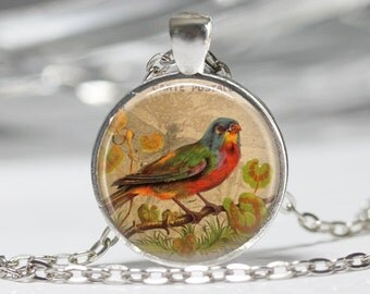 Bird on Branch Necklace Bird Jewelry