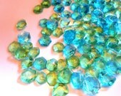 60 Minecraft Party, AQUA BLUE, GREEN, Candy Gems, Cake Decorations, Hard Candy, Cupcake Toppers
