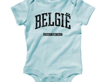 Baby Belgie Romper - Belgium Infant One Piece - NB 6m 12m 18m 24m - Belgium Baby - België - 3 Colors