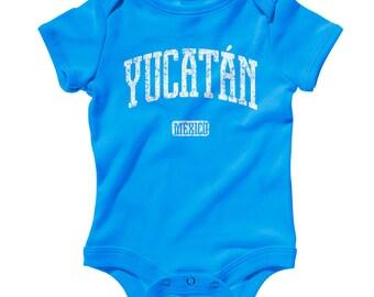 Baby Yucatan Mexico Romper - Infant One Piece - NB 6m 12m 18m 24m - Yucatan Baby - 3 Colors