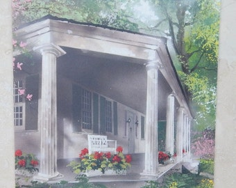 Vintage Thinking Of You Greeting Card with Porch  Made in USA