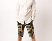 Men's Kente Knee Length Fitted Shorts