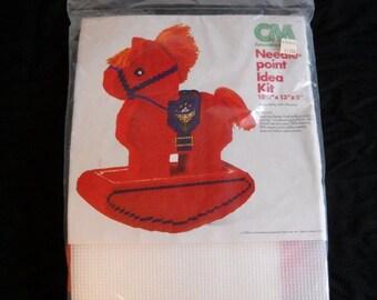 Rocking Horse Plastic Canvas Needlepoint Kit