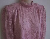 Vintage Dress pink lace Evening  wear chemise M